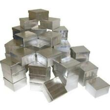 50 Silver Foil Cotton Filled Jewelry Gift Boxes 3 34