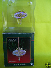 Heirloom 10th Anniversary Little Treasures Holly & Berries Carlton Ornament New