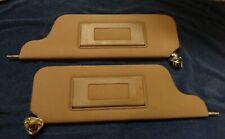 1988 LINCOLN TOWN CAR tan/beige sun visor w/ wiring harness OEM