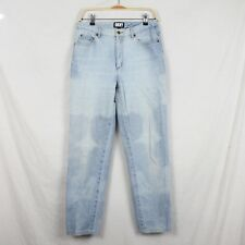 Vintage DKNY Size 12 High Waist Mom Jeans Light Wash Denim 100% Cotton