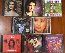 Lot of 8 Cds - 70s 80s 90s Pop Elton John Olivia Newton Rick Springfield Santana