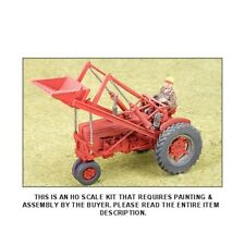 1950's RED SUPER M-TA TRACTOR w/FRONT LOADER & FARMER - HO SCALE KIT - GHQ 60005