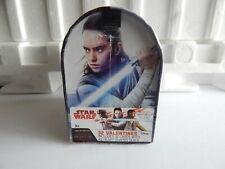 Star Wars/ Last Jedi, 32 Valentines Cards, Mailbox.- 8 Designs 48 Stickers