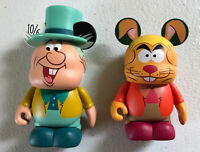 LOT DISNEY 3 VINYLMATION ALICE IN WONDERLAND MAD HATTER WITH HAT AND HARE