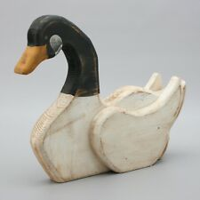 "Vintage 14"" Wood Canada Goose Worn Hunting Primitive Decor Wooden Canadian Bird"