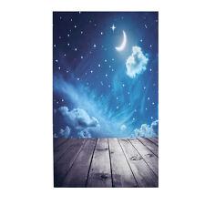 3x5ft Vinyl Photography Background Night Moon Moon Board Photographic Backdrop