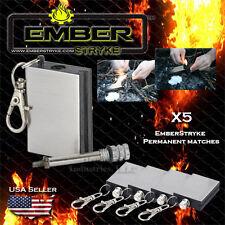 Forever Perma-match x5pc Emergency firestarters, Survival Gear Ember Stryke
