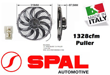 """Spal 12"""" Thermo Fan Skew Blade 12v Puller 1328 CFM Low Profile New Made in Italy"""