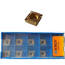10 KORLOY Wendeschneidplatten CCMT 09T302-VF NC3220