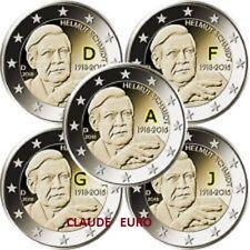 2 EURO UNC COMMEMORATIVE 2018 ALLEMAGNE HELMUT SCHMIDT