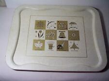 Vintage TV Trays 3 Pc. Lot 12 Months W/ seasons & symbols Tole Tray 16 X 20 1/2