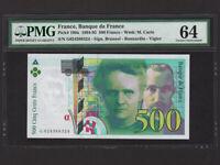 France:P-160a,500 Francs,1994 * Marie & Pierre Curie * PMG Ch. UNC 64 EPQ *