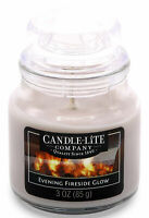 Candle-Lite EVENING FIRESIDE GLOW Duftkerze im Glas 85g Duftwachs