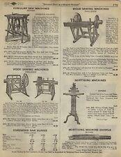 1923 Paper AD Diamond Edge Barnes Circular Saw Machine Challenge Mortising Foot