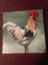 Darren Gygi Canvas Wall Art Rooster 9 x 9 USA Home Collection