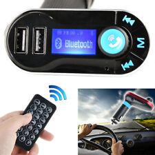 Car Bluetooth FM Transmitter MP3 Player Handsfree Dual USB Aux Wireless Remote