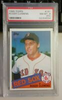 PSA Graded 8 (PD) NM-MT 1985 Topps Roger Clemens Baseball Rookie Card # 181