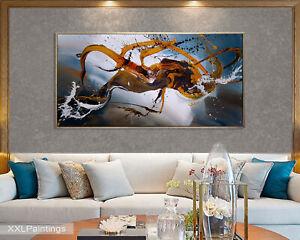 Vnartist / ORIGINAL 120cm x 60cm Abstrakt Gemälde Modern XXL Bilder 1415