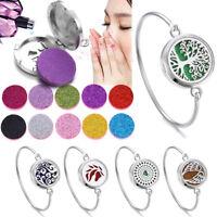 Fashion Aromatherapy Essential Oil Diffuser Perfume Bangle Locket Bracelet Box