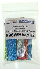 96 COE 1/2lb.Wissmach Standard 3mm Thickness Black Dichroic Scrap Bag by Austin