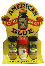 """Vintage AMERICAN BLUE STORE DISPLAY SIGN (1920's) """"Will Not Spot Or Streak"""""""