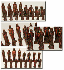 Gods of Greek Mythology - CHESS SET - PIECES ONLY - Light & Dark - 32 Pieces!