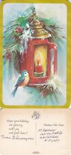 1960's CHRISTMAS GREETINGS HAND DELIVERED COLOUR POSTCARD