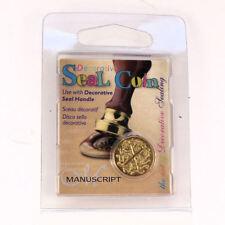 Manuscript Decorative Wax Sealing 18mm Coin Seal - Initial X