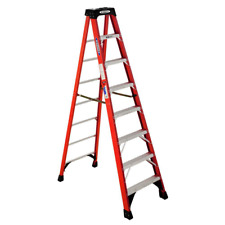 8 Ft Fiberglass Step Ladder With 300 Lb Load Capacity Type Ia Duty Rating