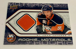 2009-10 UD Series Two JOHN TAVARES UD Rookie Materials Jersey Card 09-10