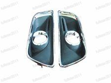 Front Bumper Bezels Fog Light Covers Pair For Chevrolet Malibu 2013-2015