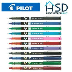 Pilot Hi-Techpoint V5 05 / V7 07 Liquid Ink Rollerball Pen Black Red Blue Green