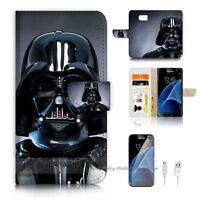 ( For Samsung S7 ) Wallet Case Cover P6541 Darth Vader Starwars