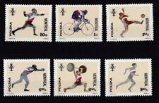 Echte Briefmarken aus Polen mit Motiven von den Olympischen Spielen als Satz