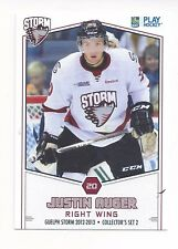 2012-13 Guelph Storm (OHL) Justin Auger (Ontario Reign)