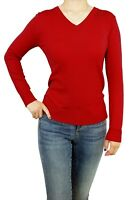Women Pullover Soft Knit V-Neck Fitted or Loose Casual Cute Cardigan Sweater