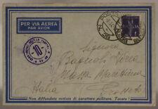 POSTA MILITARE n° 29 (P.1) BUSTA VIA AEREA TIMBRI CENSURA GRECIA 8.3.1941 #XP15