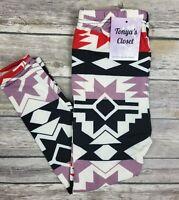 Girls Toddler Leggings Aztec Tribal Print Warm Thick S/M 3T - 6  &  L/XL 6 - 10