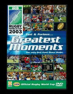 The Greatest Moments Of the RUGBY World Cup (DVD, 2003) (REGION 2 NOT for USA)