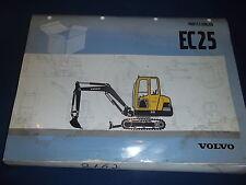 VOLVO EC25 EXCAVATOR PARTS CATALOG BOOK MANUAL