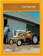 International Cub Tractor Longstripe Color Brochure Yellow White Farmall Ih