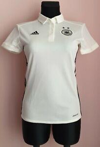 Germany football Adidas women polo size XS white shirt S98268