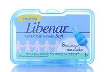 Libenar Aspiratore nasale SOFT neonato beccuccio morbido PREMIUM