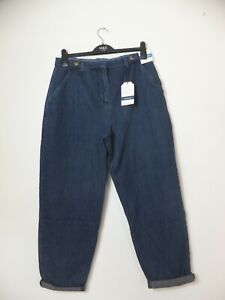 New Women's Seasalt Mid Indigo Relaxed Tapered Scots Pine Jeans UK 14 RRP £62.95