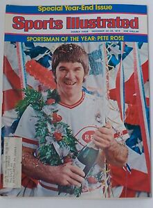 PETE ROSE Cincinnati Reds  SPORTS ILLUSTRATED DEC 1975 SPECIAL
