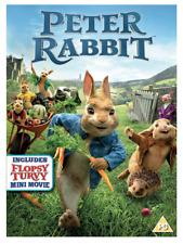 Peter Rabbit Live Action Movie DVD + Flopsy Mini Movie UK Region 2 Stock 2018