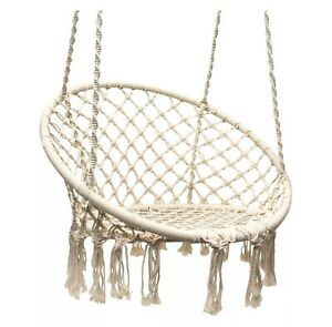 Hanging Rope Chair Off White - Sorbus