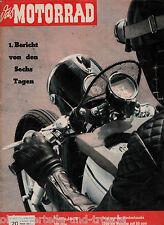 Das Motorrad Heft 20 4.Oktober 1958 Victoria Avanti 100ccm 1200Km nonstop