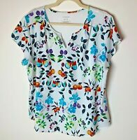 Van Heusen Women's Top Size XL Short Sleeves Floral Multicolor Casual Colorful