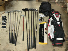 Set Of King Cobra Golf Clubs N Taylor Made Bag Head Covers,towel,glove & Brushes